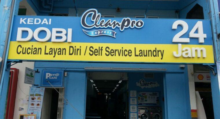 Servis Setup Kedai Dobi (Loan Disediakan)